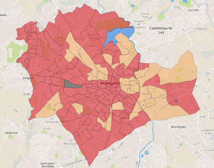 Cartographie Montpellier